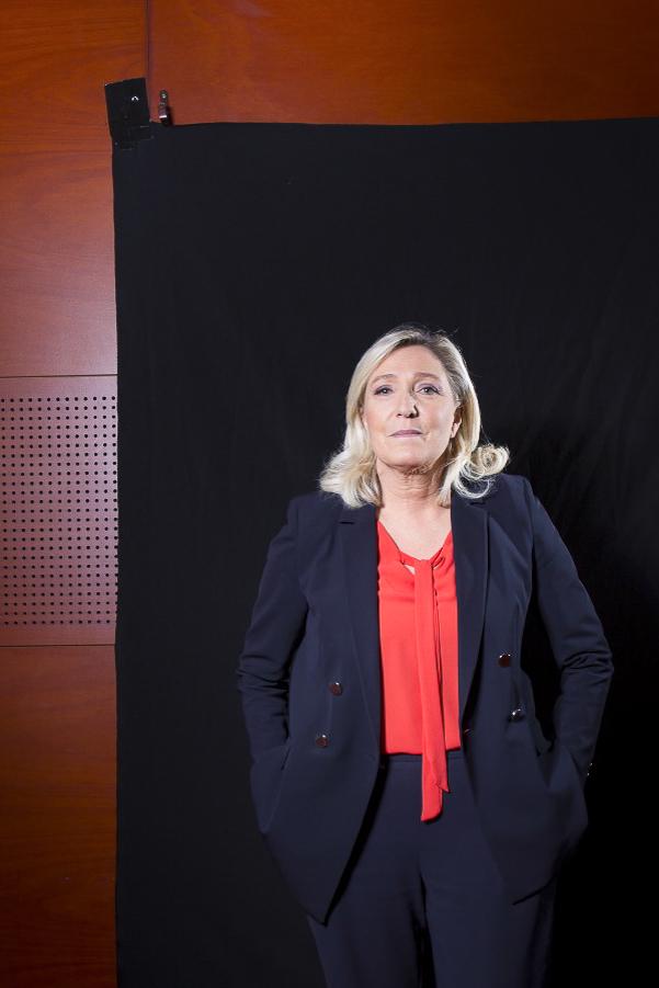 Marine Le Pen Appears On Dimanche En Politique - Paris