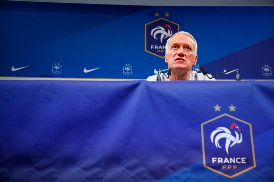 FOOTBALL : Conference de presse Didier Deschamps - Clairefontaine - 03/09/2018