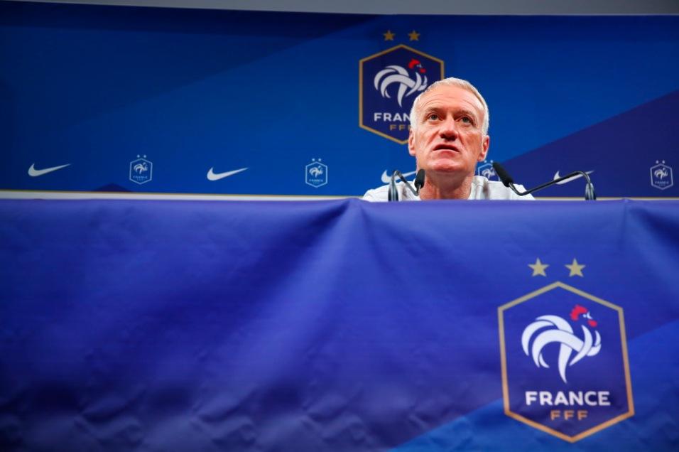 FOOTBALL : Conference de presse Didier Deschamps - Clairefontaine - 03/09/2018