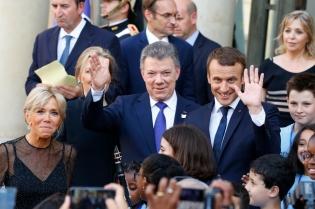 NEWS : Juan Manuel Santos a l Elysee - Paris - 21/06/2017