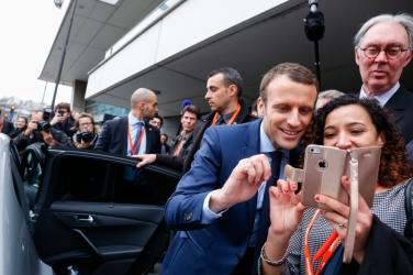 NEWS : Emmanuel Macron au salon des entrepreneurs - Paris - 02/02/2017
